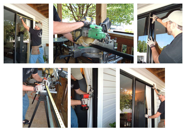 Retractable Screen Installed by How To Staff.