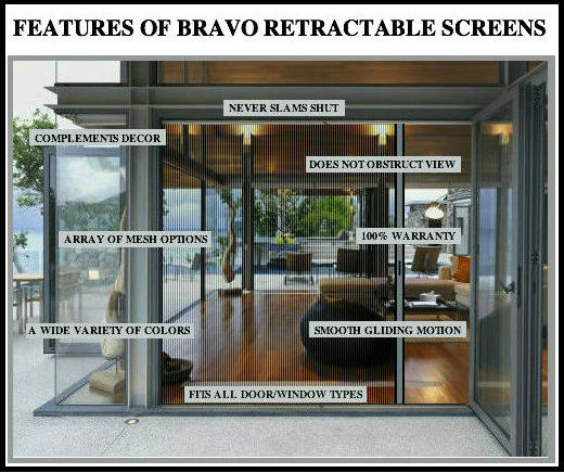 Features of Retractable screen door system