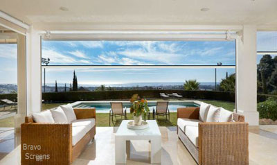 Outdoor Living with Large Screens